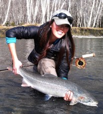 Lisa Schweitzer Steelhead on Fly