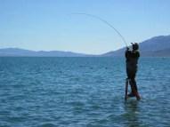 Fishing at Pyramid Lake Nevada
