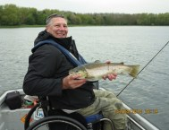Dan trout fishing at Rutland Water