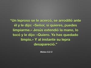 Mateo 8.2-3