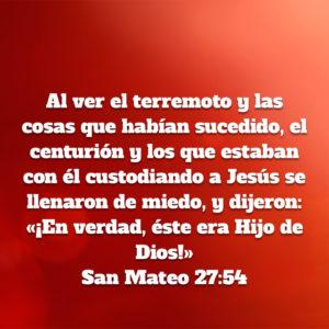 Mateo 27.54