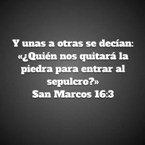 Marcos 16.3