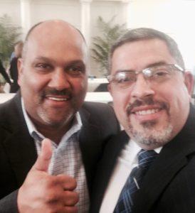 Con el Obispo Gabriel Vidal