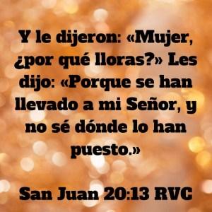 Juan 20.13