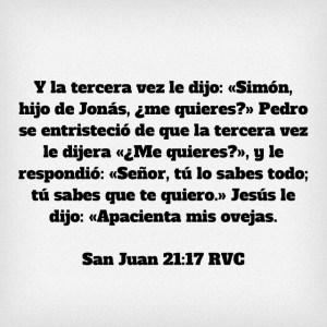 Juan 21.17
