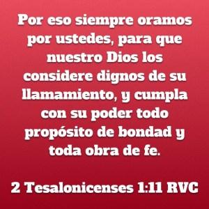 2 Tesalonicenses 1.11