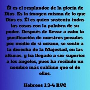 Hebreos 1.3-4