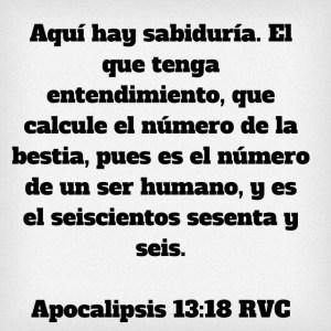 Apocalipsis 13.18