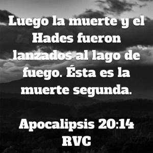 Apocalipsis 20.14