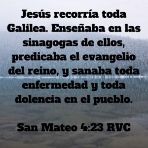 Mateo 4.23