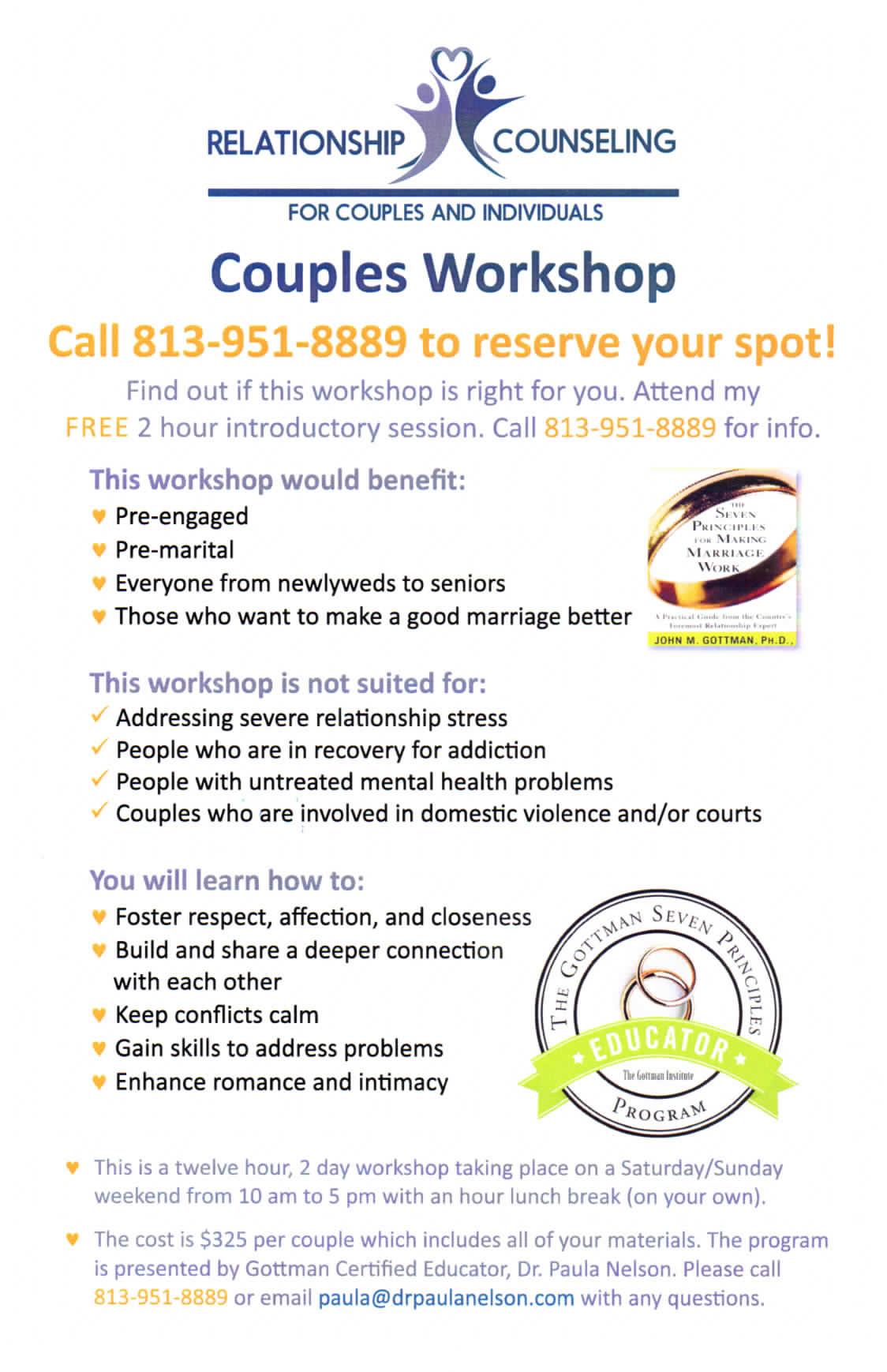 Gottman Marriage Worksheet