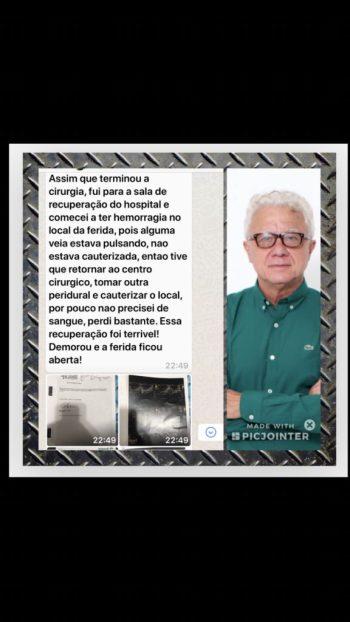 cisto pilonidal veja o caso clinico de 2 cirurgias abertas que não resolveram.