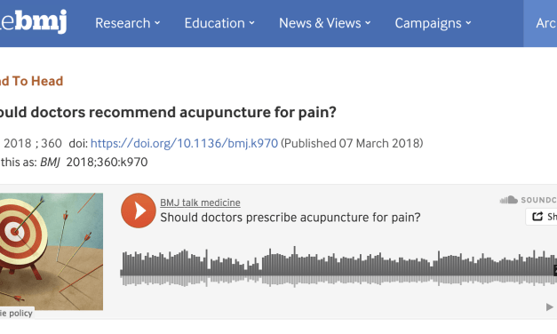 Should Doctors Recommend Acupuncture For Pain?