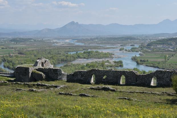 View from Rozafa Castle, Shkoder, Albania