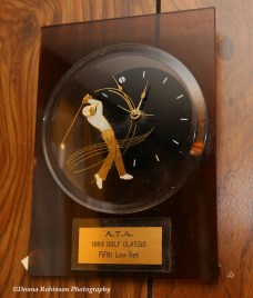 """There's the """"Golfer Clock"""" which commemorates a 1984 Golf Tournament Win"""