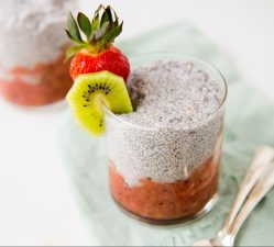 Chia Seed Pudding with Strawberry Kiwi Compote - Dr. Tricia Pingel