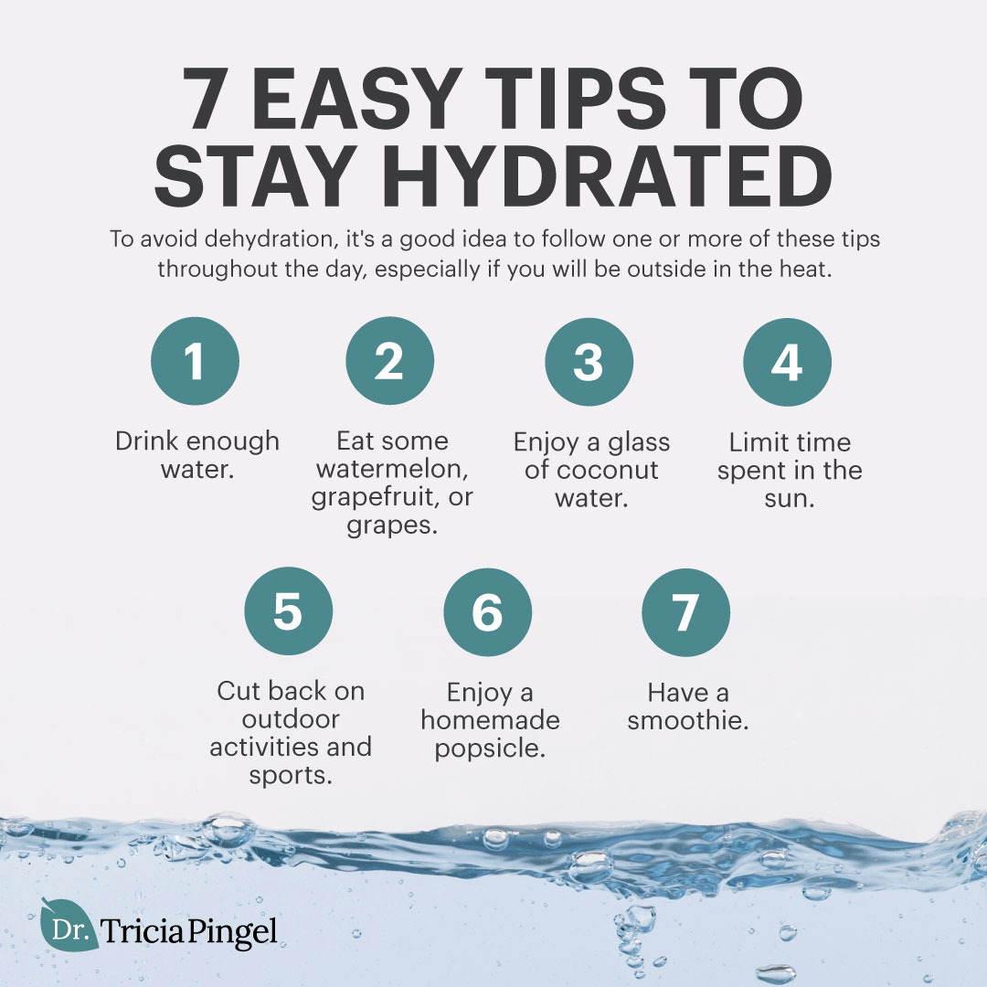 7 easy tips to stay hydrated - Dr. Pingel