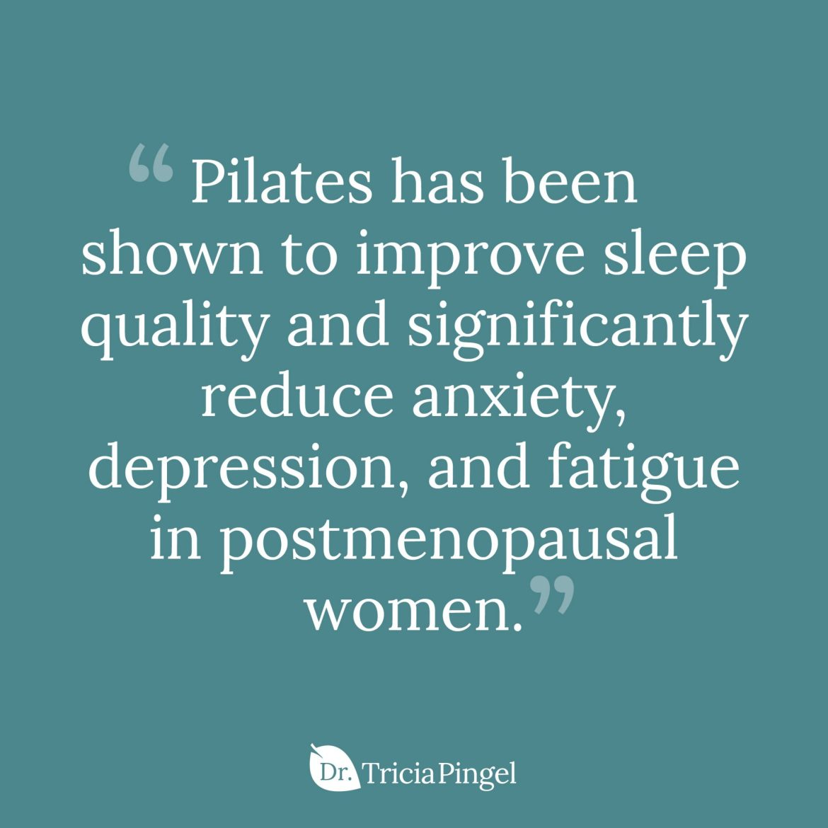 Pilates for anxiety and stress relief - Dr. Pingel