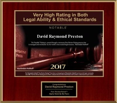 David R Preston & Associates prestigious awards