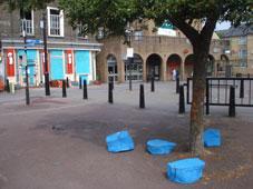 Tree stump chairs