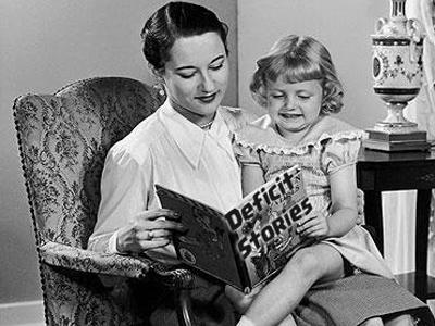 Mom reading deficit book