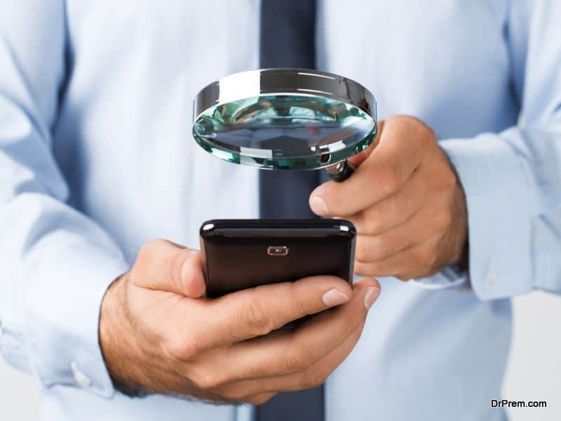 Searching/spying on the mobile phone