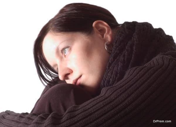 lady in depression