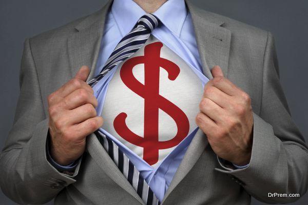 Superhero dollar man