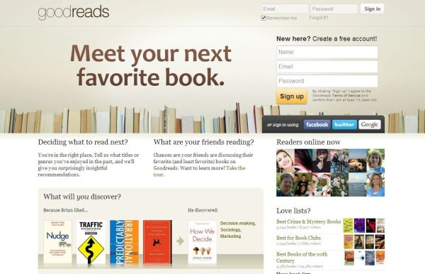 Goodreads is an amazing tool