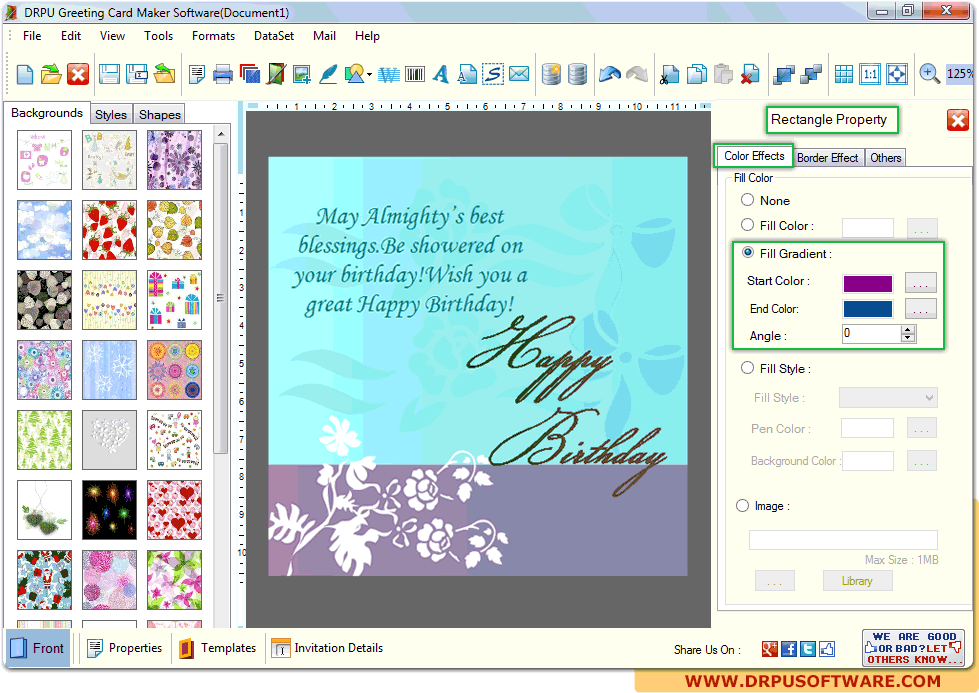 Screenshots Of Drpu Greeting Card Maker Software To Create