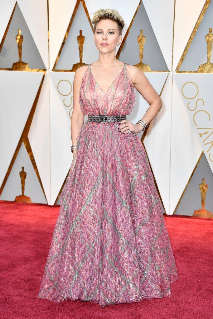 Scarlett Johansson Oscar 2017 Red Carpet Arrival