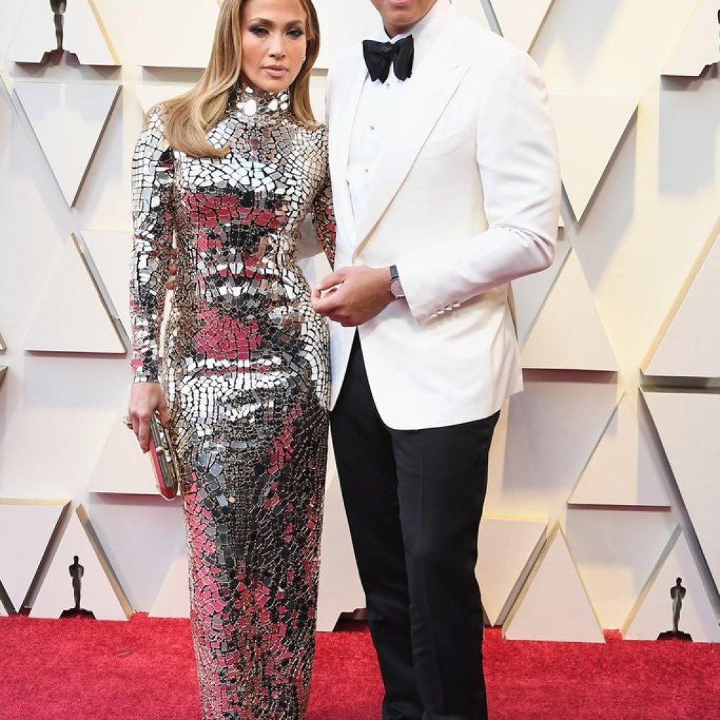 Jennifer Lopez and Alex Rodriguez on the Oscars Red Carpet 2019