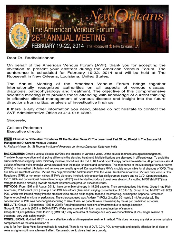 26th Annual Meeting of the AVF
