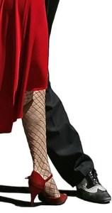 tango legs red