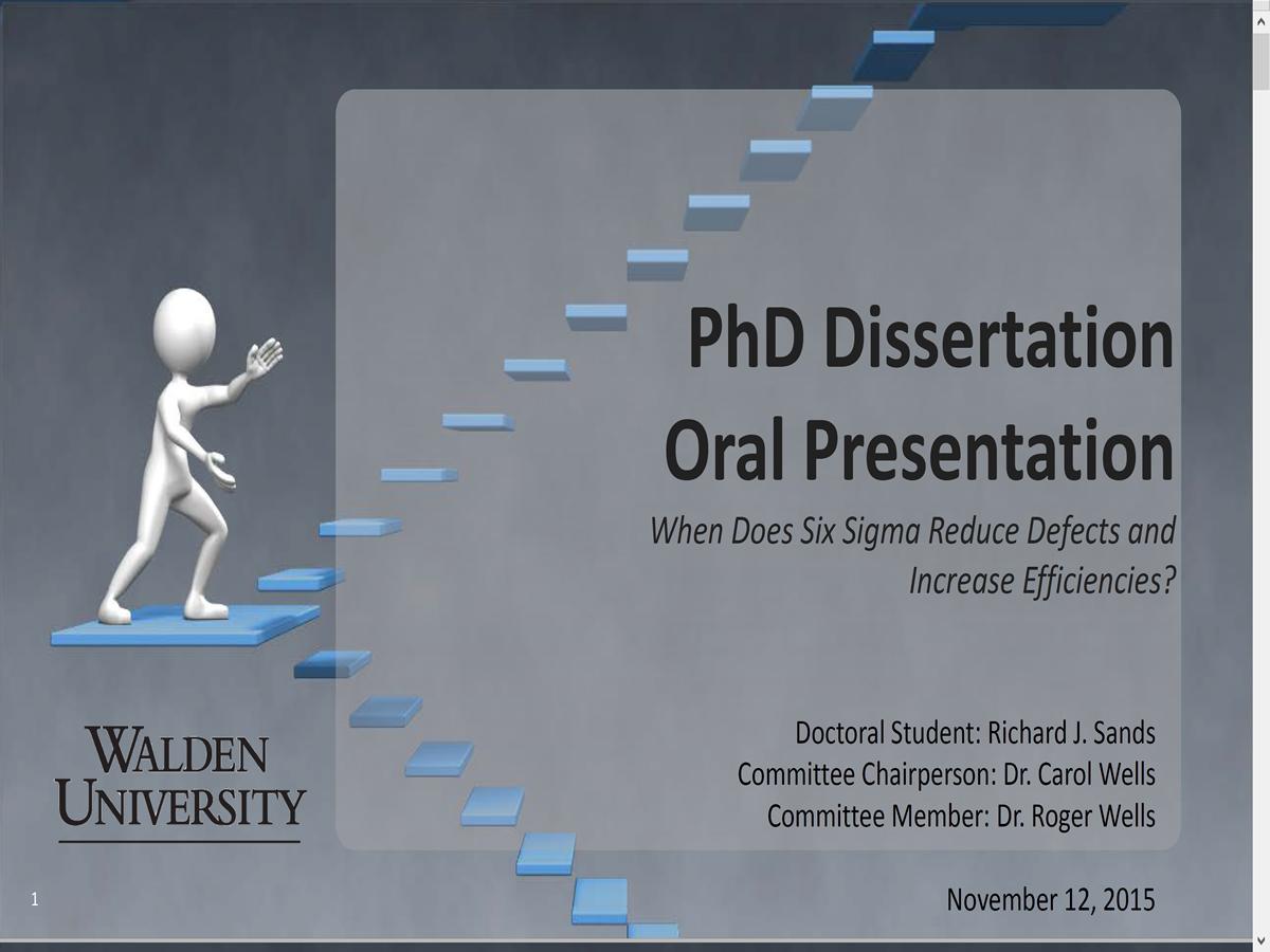 Dissertation Oral Defense Powerpoint Original Content