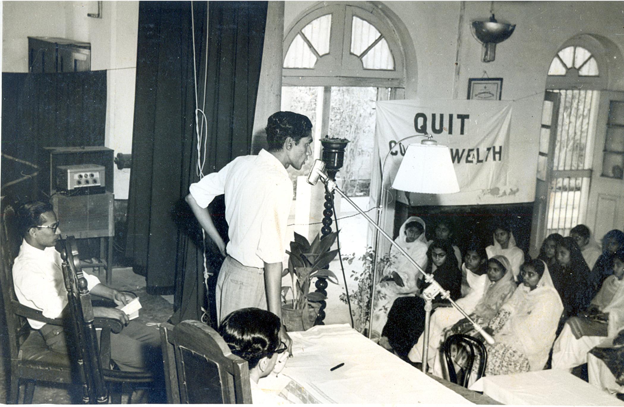 Sarwar addressing a students' meeting