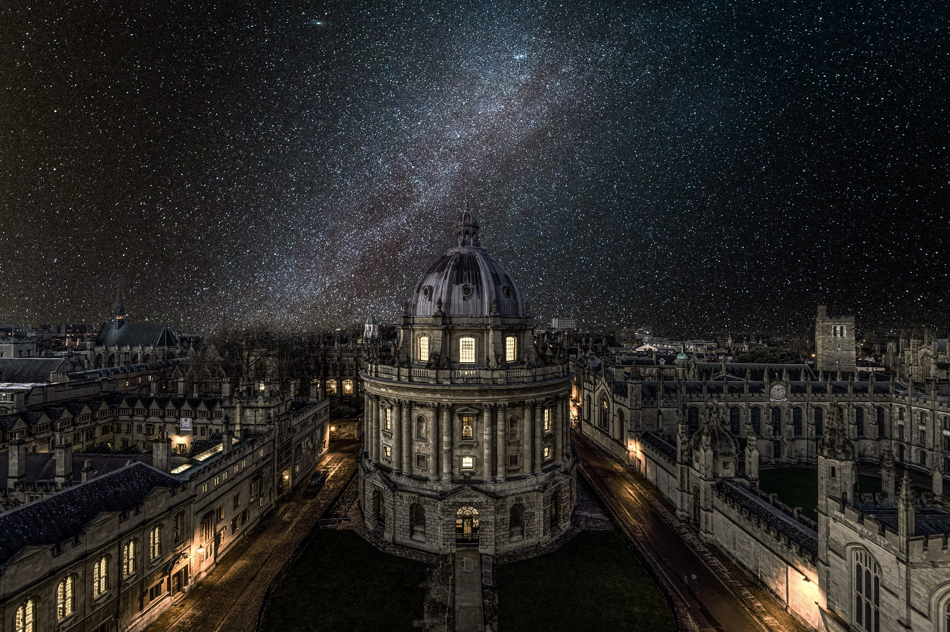 Paint Falling Wallpaper Oxford University Under The Winter Milky Way By Yunli Song