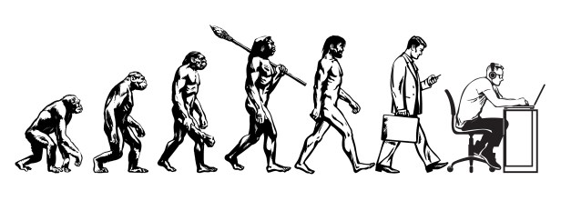 evolution of man- small
