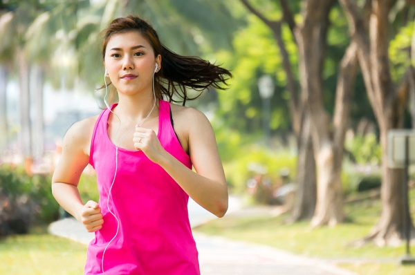 woman pink running