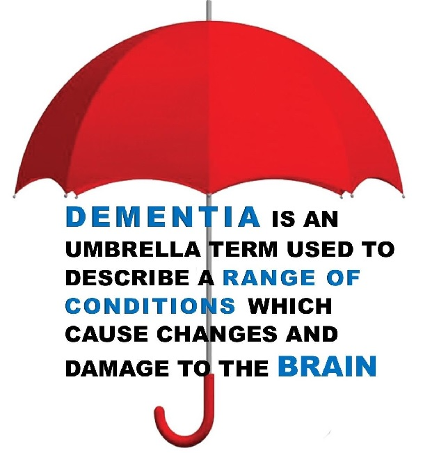 dementia is used to describe a range of conditions