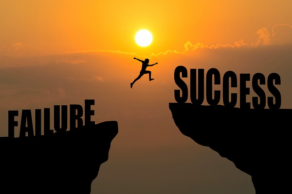 going from failure to success
