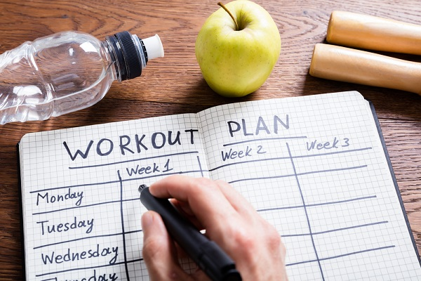 create a plan to start exercising