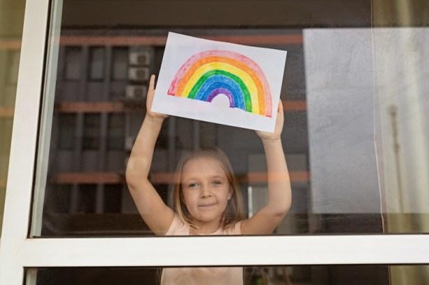 COVID- rainbow