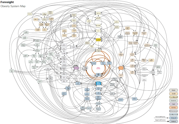 Foresight map on complexity of obesity