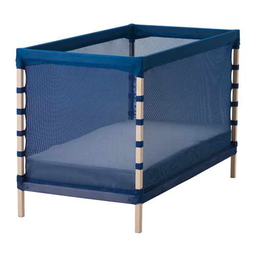 IKEA play pen, cot, baby