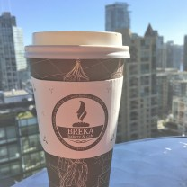 The BEST lattes at Breka cafe, made all the tastier with a long view of downtown.
