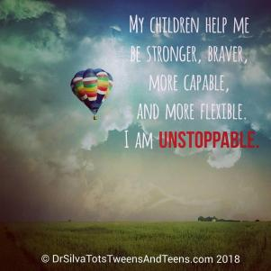 Unstoppable Parenting Affirmation, #lovemykids