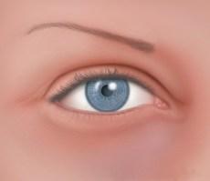 El ojo de raza blanca