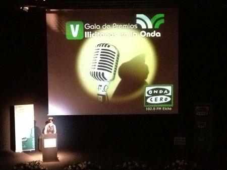 Mayte Vilaseca presentando la V Gala de Premios Ilicitanos en la Onda