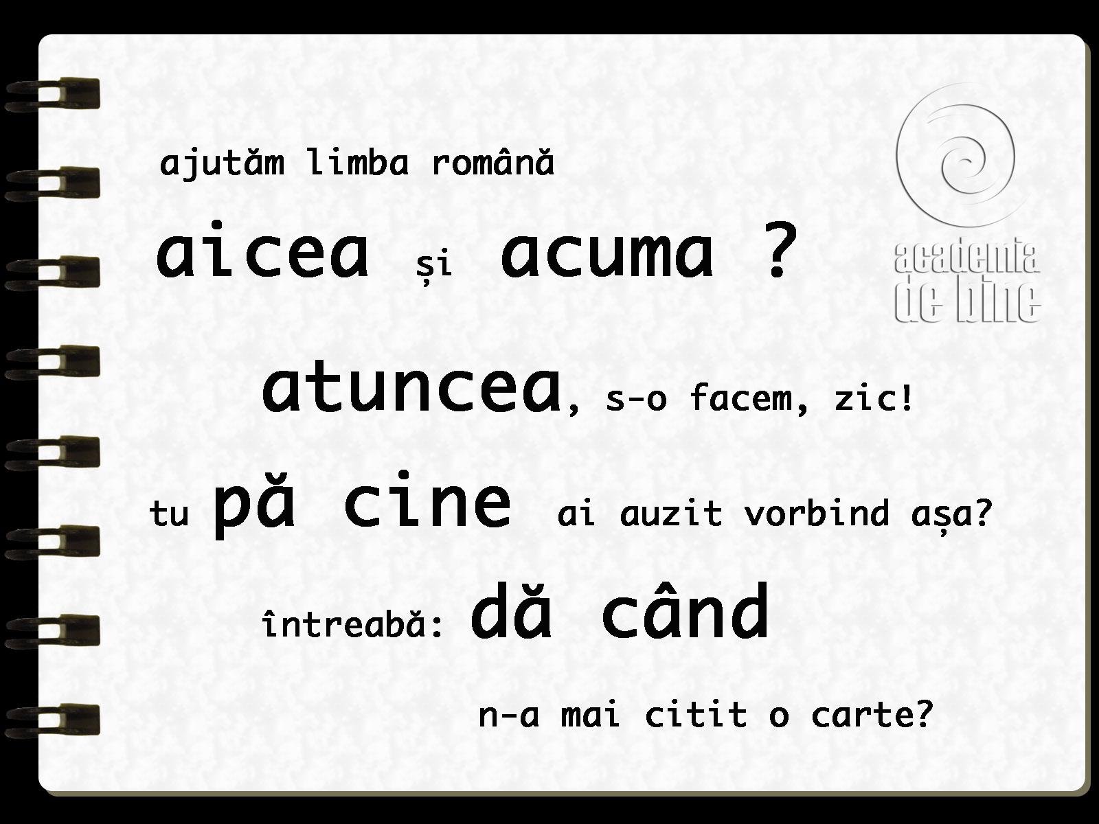 Un gram de limba română (17) « DrStoica / da-te-n blogul